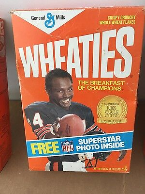 1987 Walter Payton Superstar Edition Wheaties Collector's Box Stands Upright