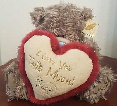 """Fluffy 8""""  Me to you  'I love you this much' Tatty Teddy Bear #TT46"""