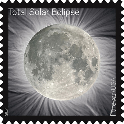 Total Eclipse Of The Sun Solar Moon Forever Stamps Book Sheet with sleeve