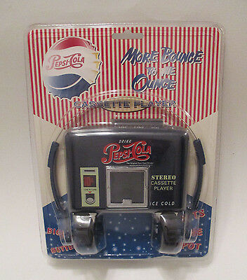 Vintage Pepsi Cola Cassette Stereo Player Mechandise Collectable Factory Sealed