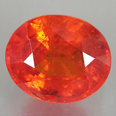 Mandarin Orange Spessartite Garnet 2.17 cts Oval Gemstone Loose Diamond F607