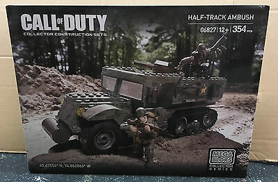 VHTF RETIRED Mega Bloks Call of Duty Half Track Ambush 06827 BNIB Sealed