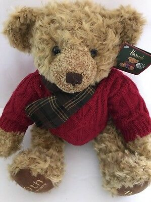 Harrods 2005 20th Anniversary Teddy Bear New With Tags 13'' SEATED