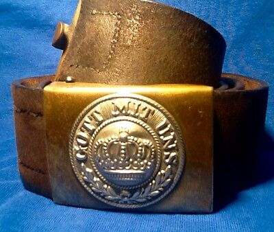 Imperial German, Pre-WW1 1899 Marked Prussian Enlisted Man's Belt & Brass Buckle