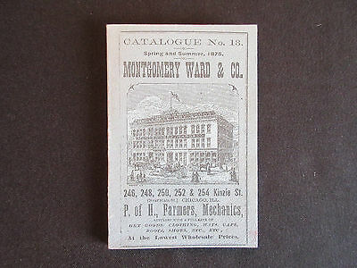 1875 Montgomery Ward Spring and Summer Department Store Catalog MINT
