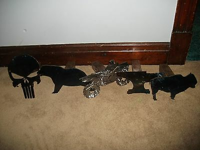 metal art steel hitch cover anvil,bear,punisher,atv take your pick.