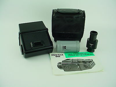 PENTAX 645 Film magazine for 70mm film complete W/ Extension & Manual - RARE