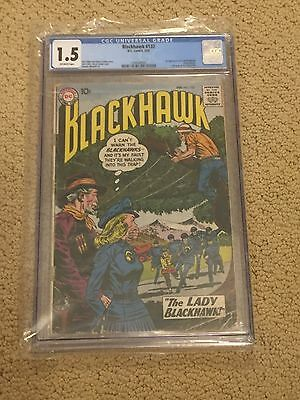 Blackhawk 133 CGC 1.5 OW Pages (1st app of Lady Blackhawk from 1959!!)