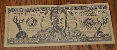 NEW JAPAN PRO WRESTLING Kazuchika Okada $100000 notes NJPW wrestling WWE