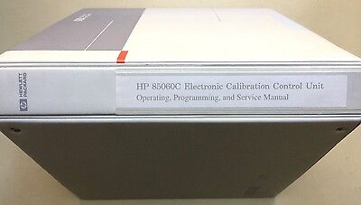 HP 85060C 85062A Operating Programming Service Manuals w/Disk 85060-90002