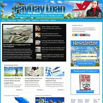 Established PAYDAY LOAN Turnkey MOBILE FRIENDLY Website For Sale