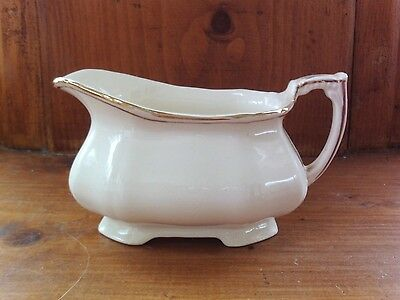 Alfred Meakin small sauce jug, white and gold, vintage English pottery, milk?