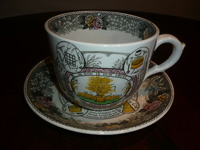 """Adams """"speed The Plough"""" Large Cup And Saucer"""