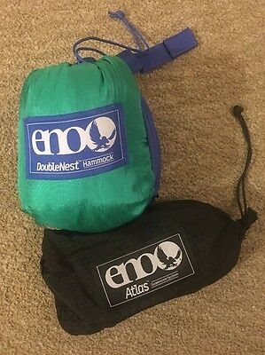 Eno Double Nest Hammock Royal Emerald With Atlas Straps Brand New!!