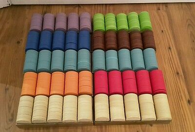 HUGE LOT!  Casino Chips - Blank - Great Colors - Over 1400 Chips in Trays!