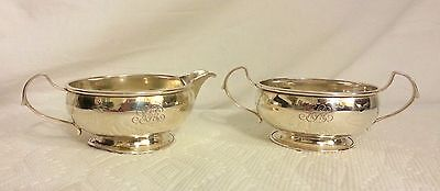 Webster Sterling silver Creamer and Sugar bowl 120 grams, Not weighted