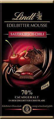 Lindt Edelbitter Mousse Sauerkirsch-Chili, 70 % Cacao - 150 g