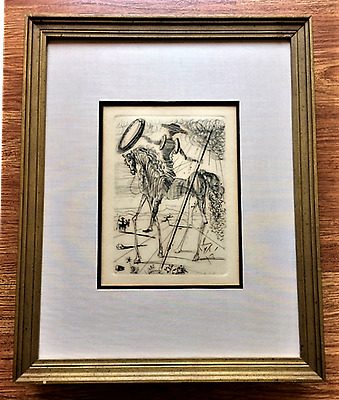 SALVADOR DALI *Original Signed Etching (1960's) WITH CERTIFICATE OF AUTHENTICITY