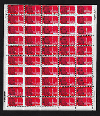 Canada -Full Pane of 50 Stamps MNH -Sir Oliver Mowat, A Father of Confed. #517
