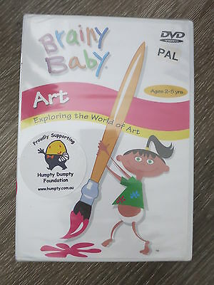 BRAINY BABY Art DVD Brand NEW Age 2-5 Years Fun Learning