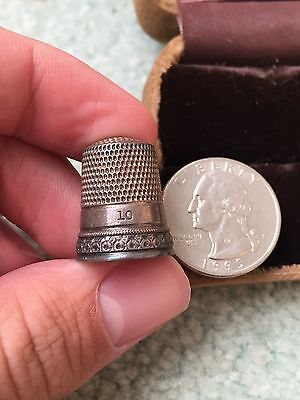 Antique Sterling Silver Thimble Number 10 Simons Brothers