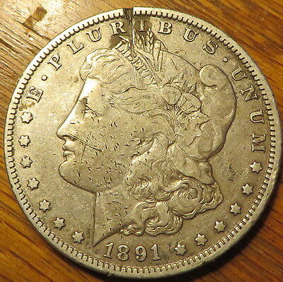 1891-O $1 Morgan Silver Dollar  - very nice coin - New Orleans Mint - (9605)
