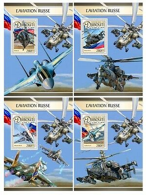 Z08 IMPERF DJB16605d DJIBOUTI 2016 Russian air force MNH ** Postfrisch