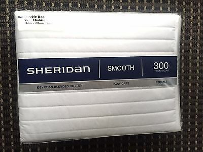 Brand new, never used, Sheridan double bed quilted bedskirt