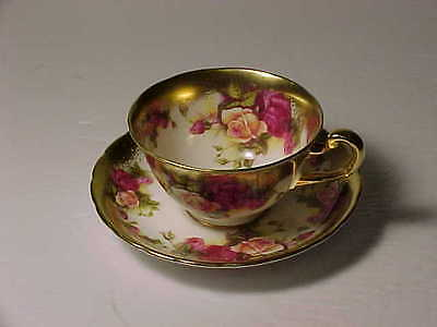 Royal Chelsea Golden Rose Cup and Saucer