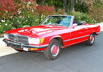 1972 Mercedes-Benz 300-Series  1972 Mercedes-Benz 350SL. Signal Red/Black. European style. first year of W107
