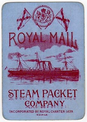 Playing Cards 1 Swap Card Old Wide RMSP ROYAL MAIL STEAM PACKET Shipping SS NILE