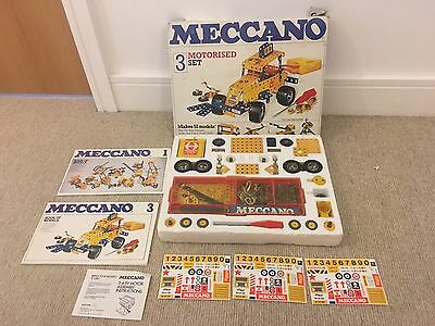 MECCANO MOTORISED 3 SET BOXED ALMOST Complete