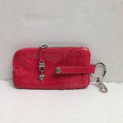BRIGHTON Twister ID Card And Phone CASE KEY CHAIN RING WALLET PINK $60