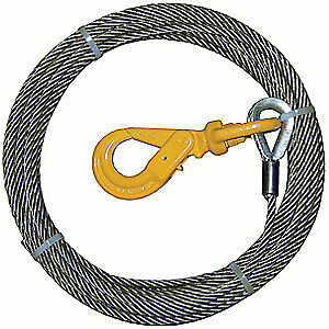 B/A PRODUCTS CO. Winch Cable,Steel,3/8 In. x 100 ft., 4-38SC100LH