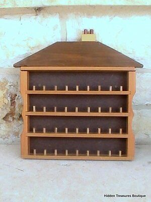 House Shaped 36 Slot Thimble Cabinet Wall Open Display Case