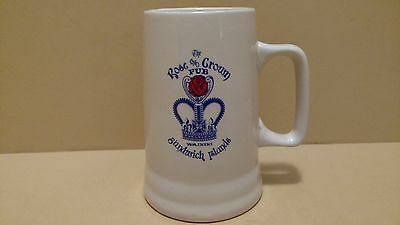 White Ceramic Beer Stein –The Rose and Crown Pub – Hawaii