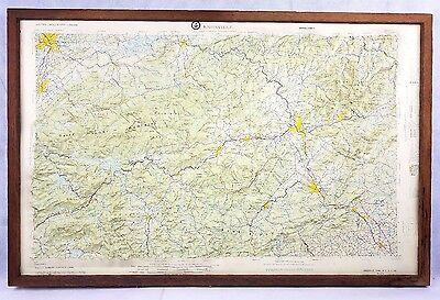Knoxville & Great Smoky Mountains 3D Map Army Topographic Command Hubbard 1966