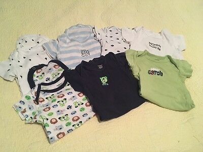 baby boy lot size 12 months onesies undershirts Gerber Carters