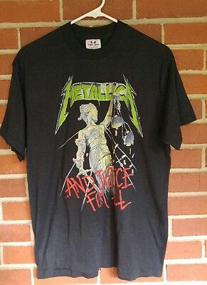 Metallica And Justice For All 1988-89 concert tee Mens XL
