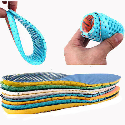 2 Size Stretch Breathable Absorbent Deodorant Insole Sports Cushioning Insoles