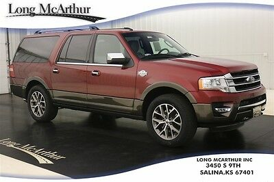 2017 Ford Expedition EL KING RANCH 4X4 NAV SUNROOF MSRP $71915 4WD VOICE NAVIGATION MOONROOF LEATHER SEATS HEADREST DVD ENTERTAINMENT