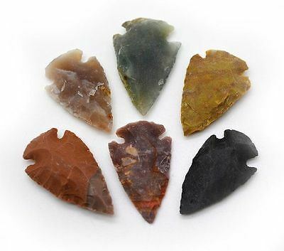Pack of 50 Indian Arrowheads Agate Replica