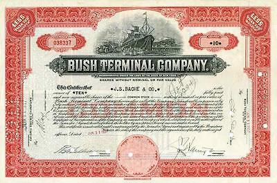 1937 Bush Terminal Co Stock Certificate