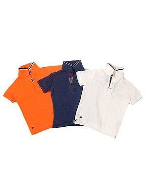 Next Boys Short Sleeve Pique Polo Shirt Blue or Orange Age 3 4 5 6 7 NEW SALE!