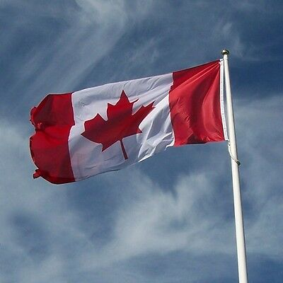 "NEW - Flags Unlimited Canadian Flag 36"" x 72"" $40"