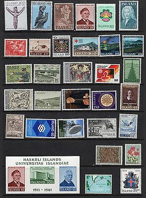 Iceland - 193 different stamps, Mint / MNH collection (UC)