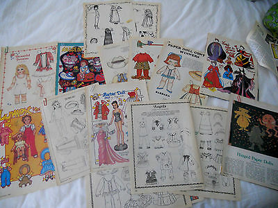 LOT of  20... 14 1982 83 84 PAPER DOLLS  &  6 PAT FREY'S PAPER PEOPLE ARTiCLES