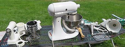 KitchenAid Ultra Power Stand Mixer KSM90 300 Watt 10 Speed White + attachments