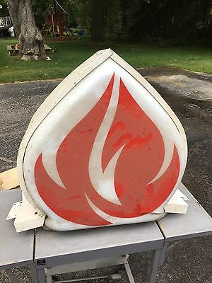 standard oil flame light Lighted Topper Surround 1950s 60s Display Gas Station