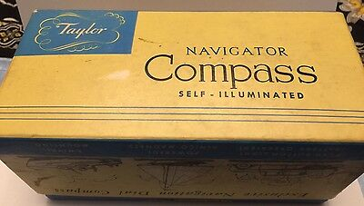 Vintage Taylor Navigator Compass 2957 in Box Auto or Boat w Instructions